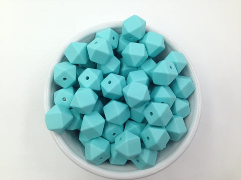 14mm Cool Caribbean Mini Hexagon Silicone Teething Beads