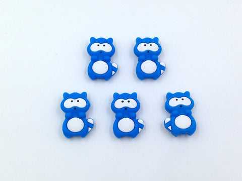 Sky Blue Raccoon Silicone Beads