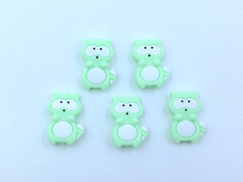 Honeydew Raccoon Silicone Beads