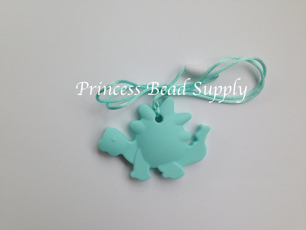 Aqua Dinosaur Silicone Teether