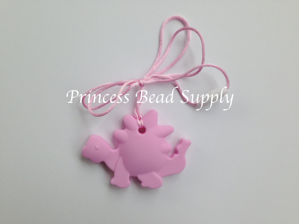 Light Pink Dinosaur Silicone Teether