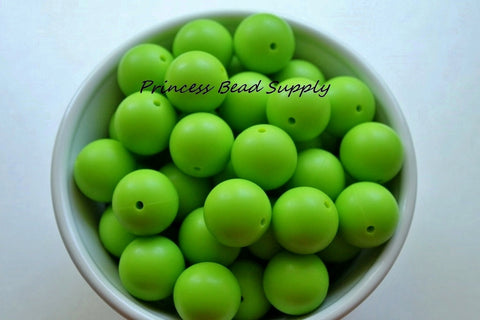 19mm Green Silicone Teething Beads