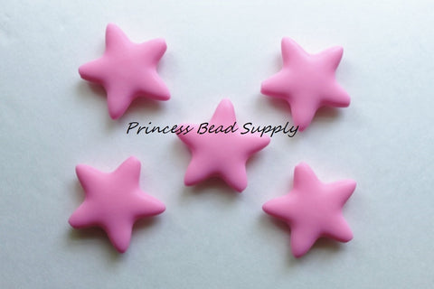 Pink Star Silicone Teething Beads