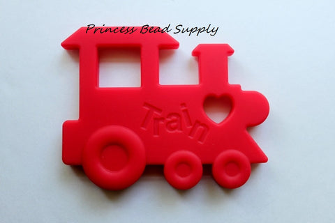 Red Train Silicone Teether