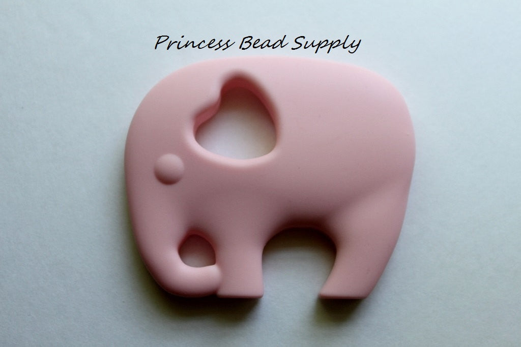 Pale Pink Elephant Silicone Teether
