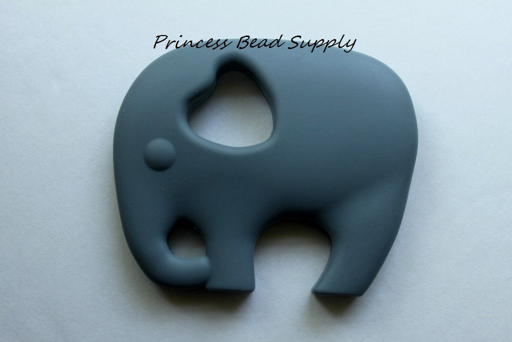 Gray Elephant Silicone Teether