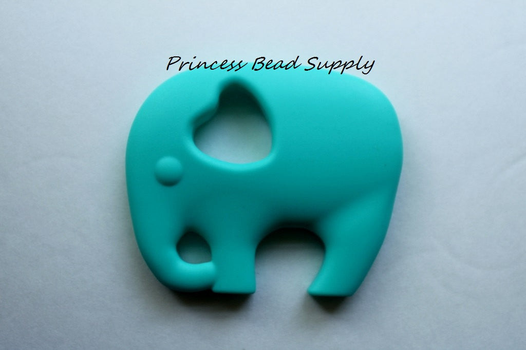 Turquoise Elephant Silicone Teether
