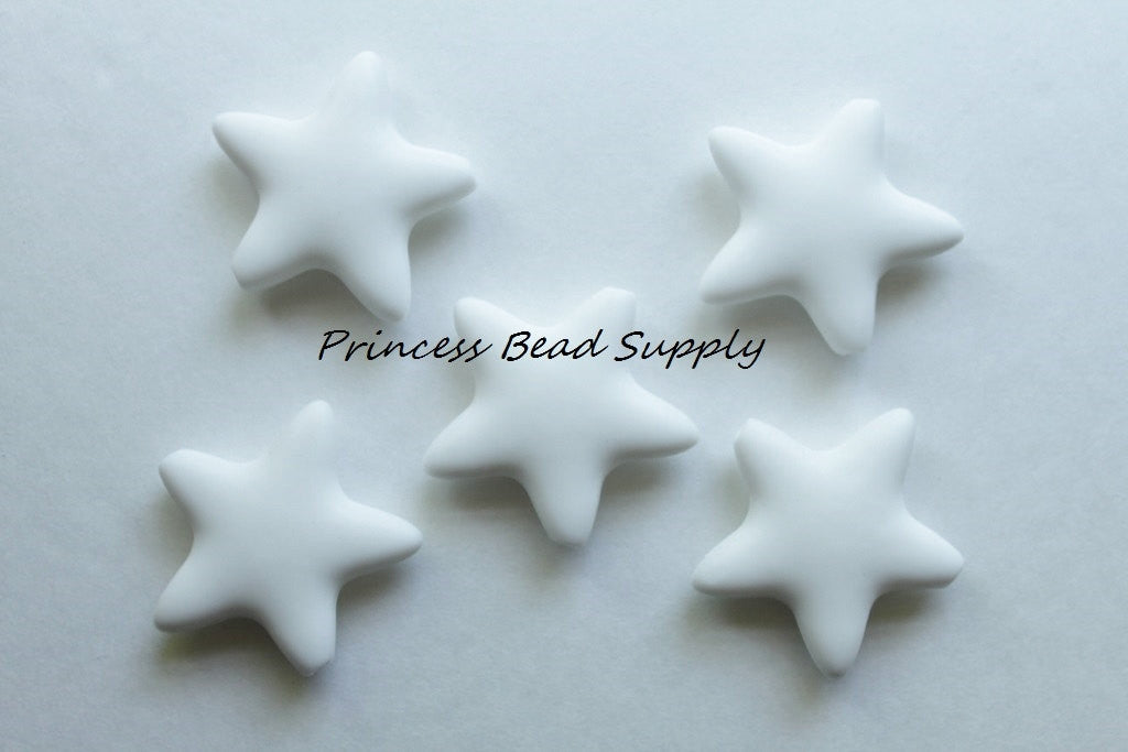 White Star Silicone Teething Beads