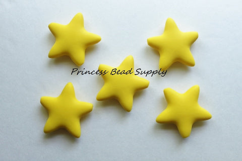 Yellow Star Silicone Teething Beads