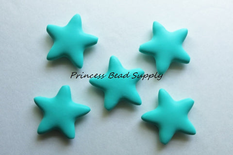Turquoise Star Silicone Teething Beads