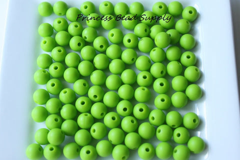9mm Green Silicone Teething Beads