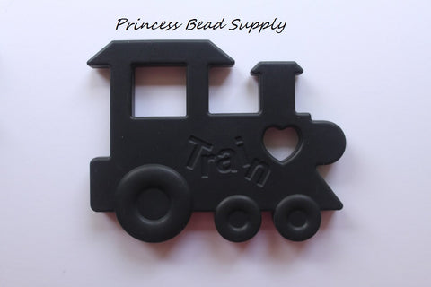 Black Train Silicone Teether