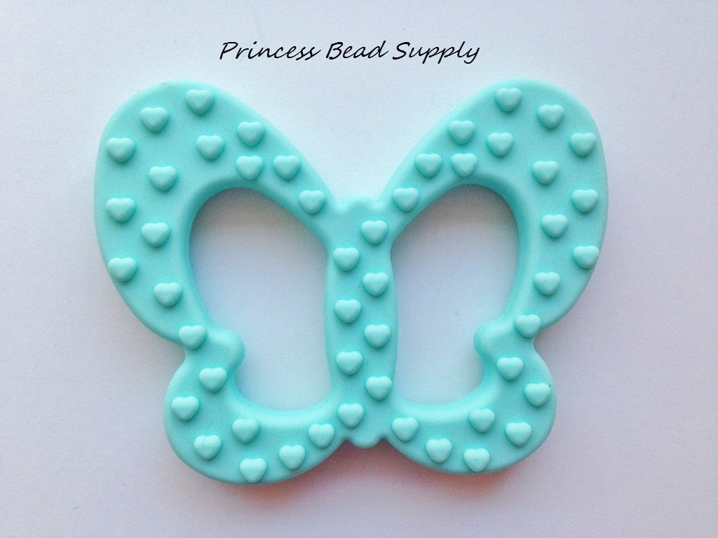 Aqua Butterfly Silicone Teether