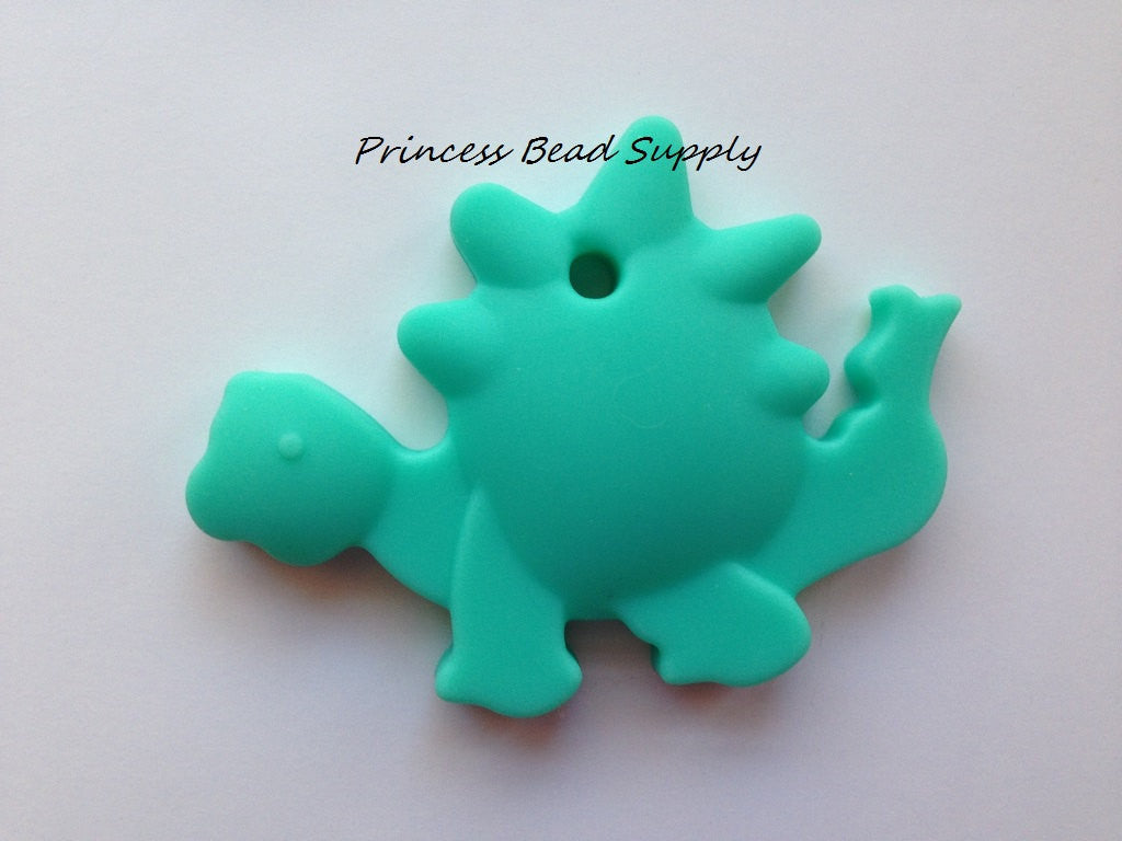 Turquoise Dinosaur Silicone Teether
