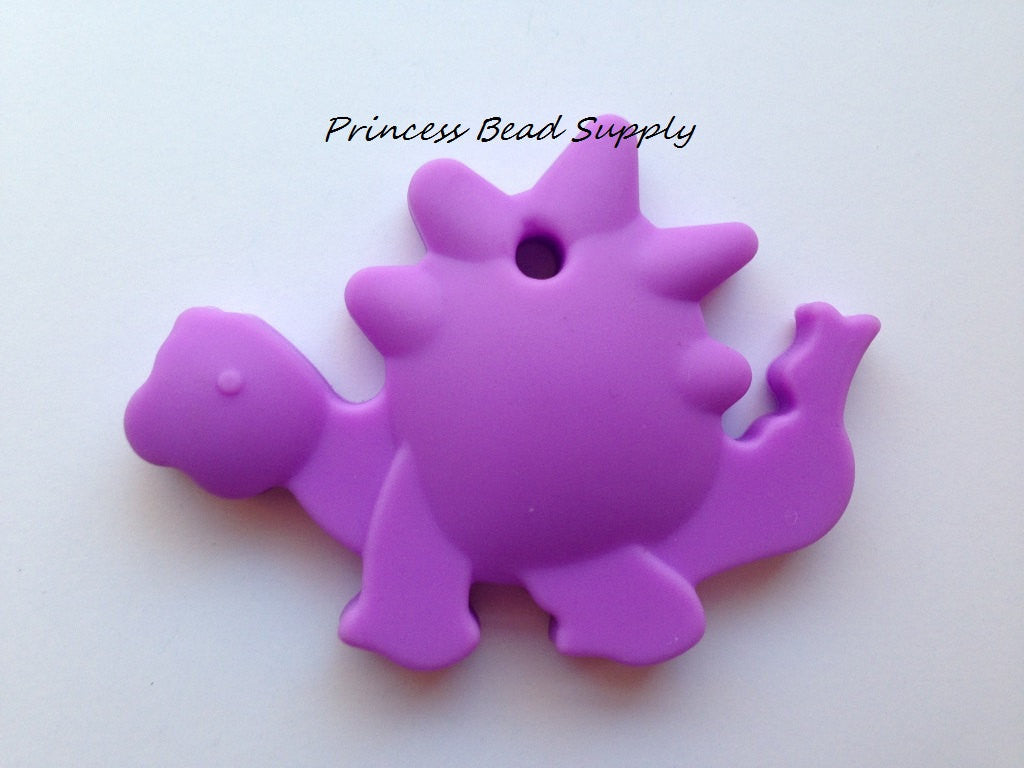 Purple Dinosaur Silicone Teether