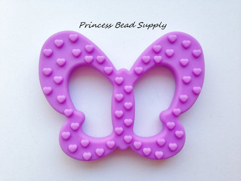 Lavender Purple Butterfly Silicone Teether