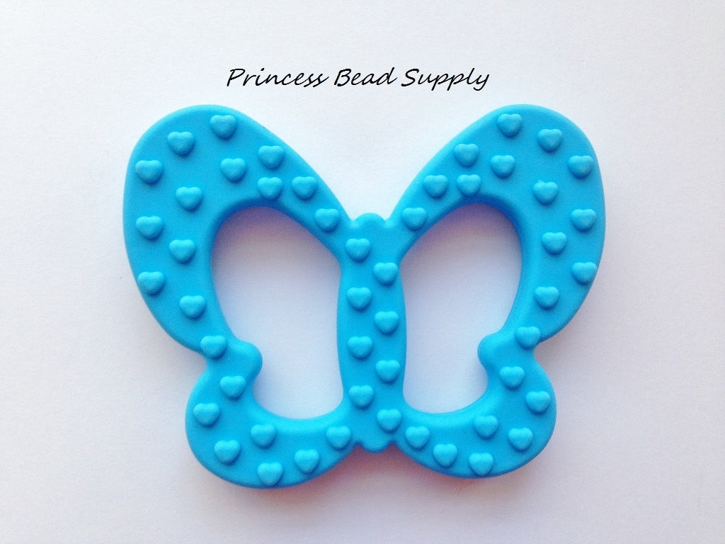 Sky Blue Butterfly Silicone Teether