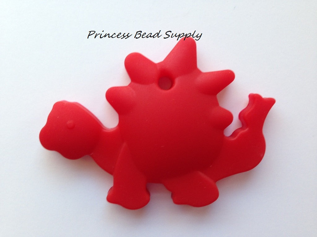 Red Dinosaur Silicone Teether