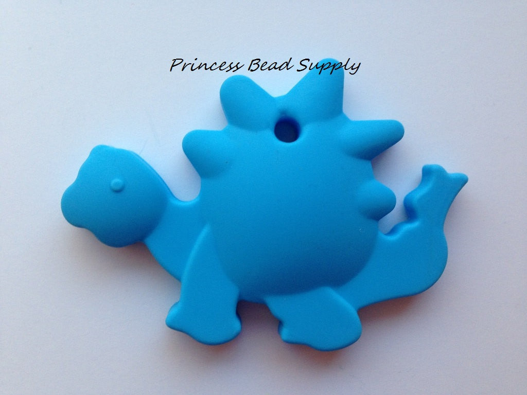 Sky Blue Dinosaur Silicone Teether