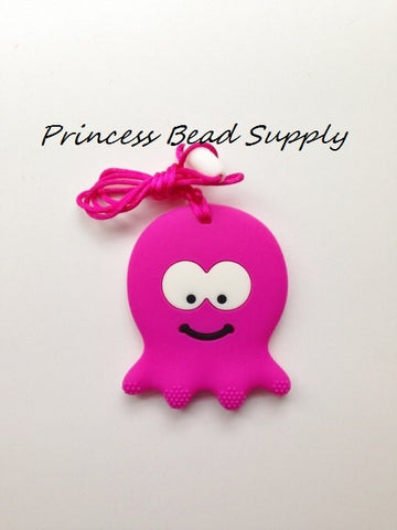 Hot Pink Octopus Teether