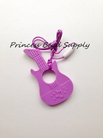 Purple Silicone Guitar Teether