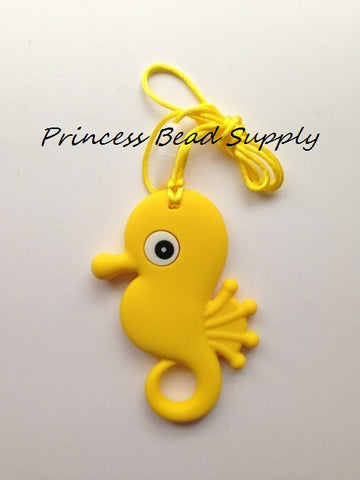 Yellow Seahorse Teether