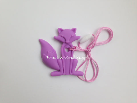 Purple Silicone Fox Teether