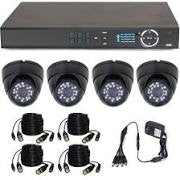 4 Channel Home Security Camera System & 4 Cameras