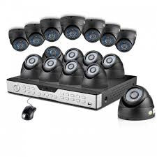 16CH H.264 DVR & 16 CCD IR Outdoor Security Camera System with No Hard Drive