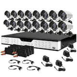 16 Channel DVR Recorder System 700TVL Surveillance Security Camera Kit 2TB