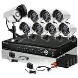 16CH H.264 960H DVR Security System with 8 700TVL Camera & 1TB HD