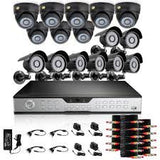 16CH H.264 960H DVR Security System with 16 700TVL Camera & 2TB HD