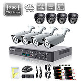 16 Channel 720p sPOE NVR system with 8 HD IP Cameras & 1TB HDD