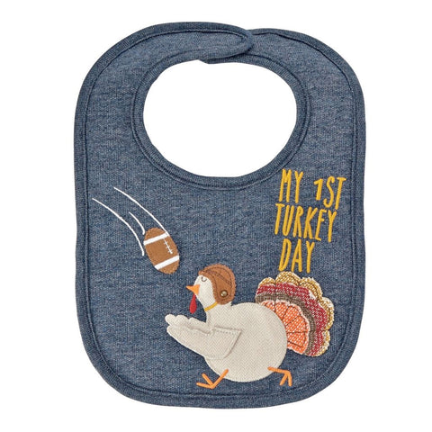 1st Turkey Day Football Bib