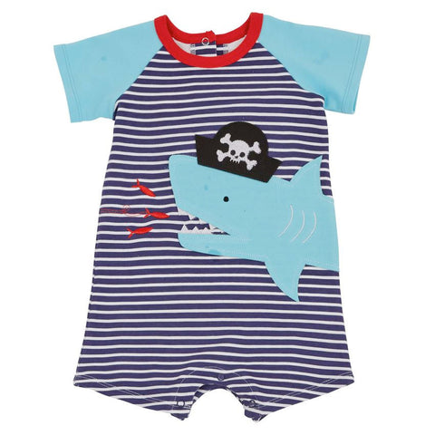Pirate Shark Raglan One-Piece