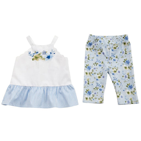 Floral Tunic And Capri Set  2T