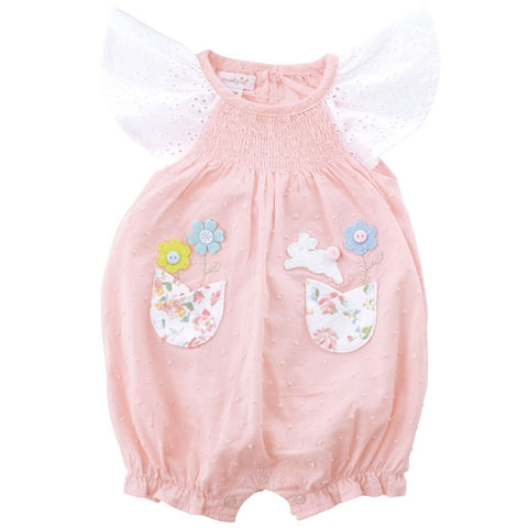 Smocked Bunny Bubble Romper