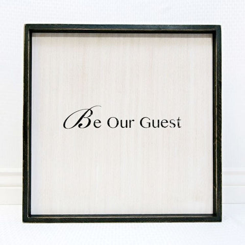 Be Our Guest Large Wooden Sign or Guest Book
