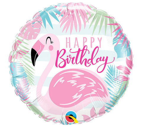 Happy Birthday Flamingo Balloon