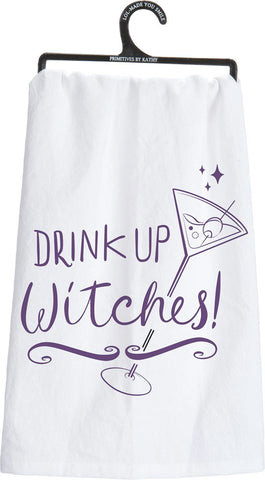 Drink Up Witches Dish Towel