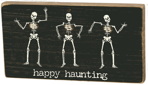 Happy Haunting Stitched Skeleton Magnet