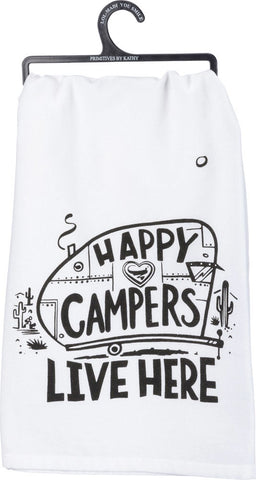 Happy Campers Dish Towel