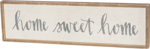 Home Sweet Home Box Sign