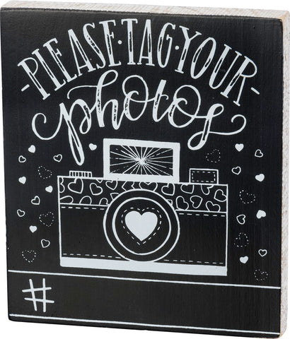 Chalk Board - Hashtag It Sign