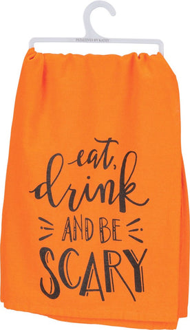 Eat Drink Scary Dish Towel
