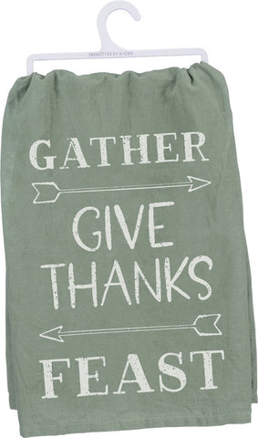 Give Thanks Feast Dish Towel