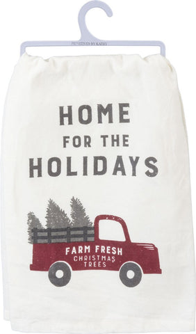 Home For The Holidays Dish Towel Truck w/Trees