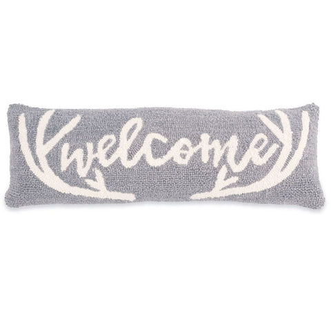 Deer Welcome Hooked Pillow