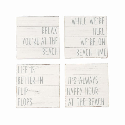 Planked Beach Coaster Set