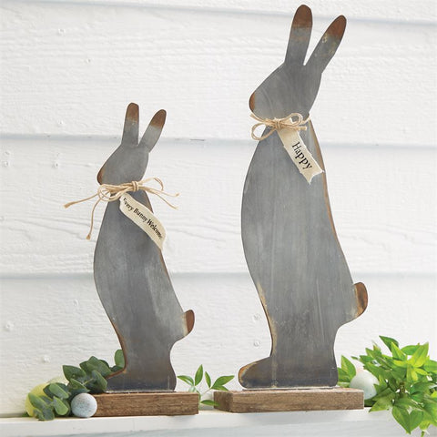 Metal Decorative Bunnies